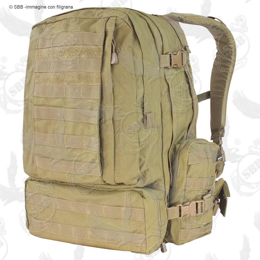 13708cab66 Zaino Assault Coyote Tan 70 Litri Tattico Militare MOLLE CONDOR USA 3-Day  Pack Large in Nylon 1000D [SBB-4441] - PXPrato