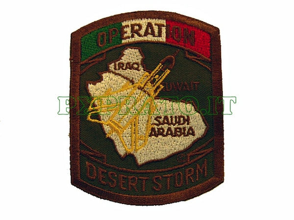 Patch Operation Desert Storm Italia 1991 Militare Missione Italiana All'Estero Toppa Ricamata