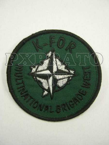 Kosovo KFOR 2003 Patch Toppa Militare Multinational Brigade West Missione Esercito Italiano All'Estero Ricamo