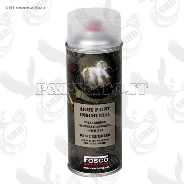 Rimuovi Vernice Colore Militare SoftAir Spray Paint Remover Sverniciatore FOSCO Army Paint Bombola 400 ml SBB