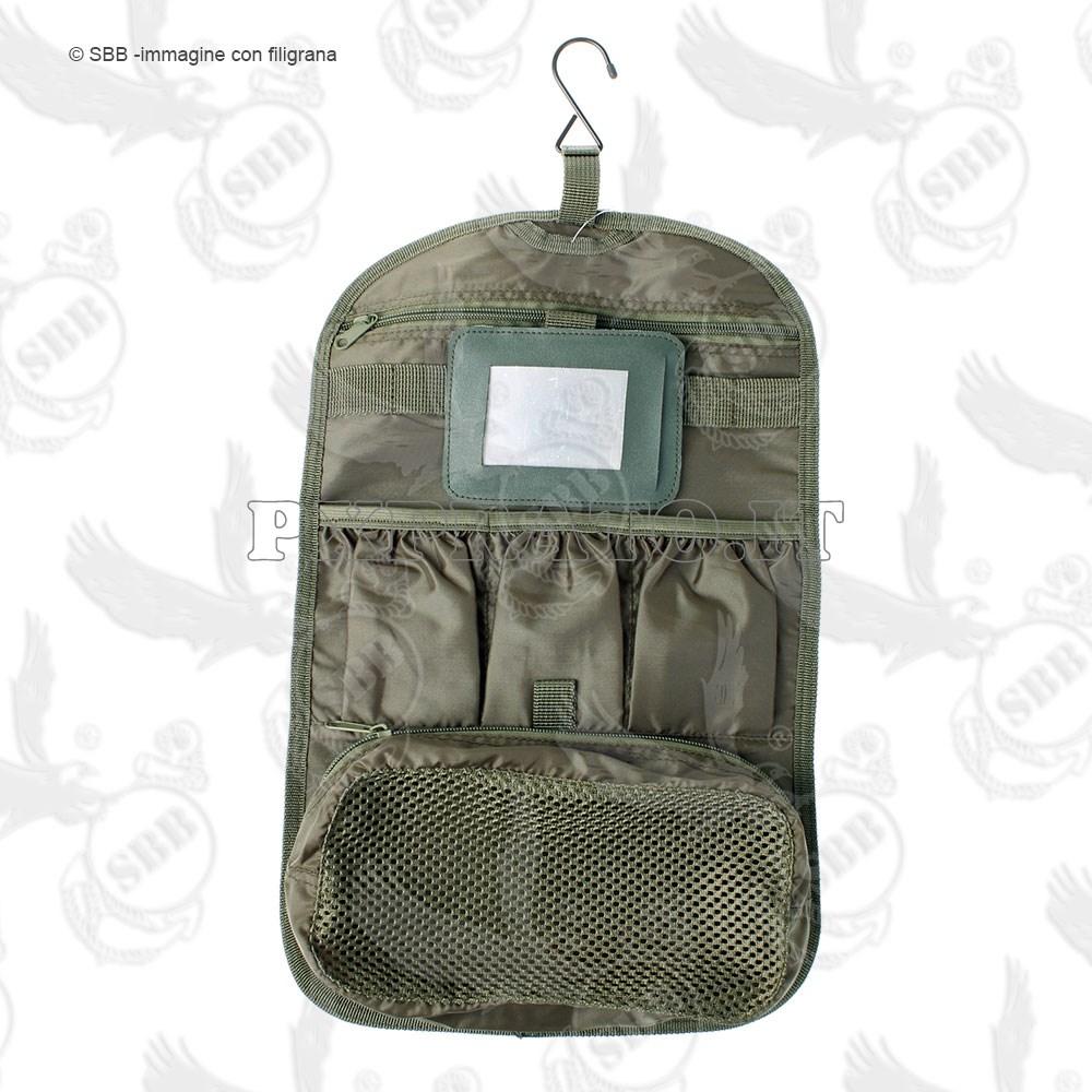 Borsa porta accessori da bagno mimetico vegetato italiano militare con specchio da campo viaggio - Toilette da bagno ...