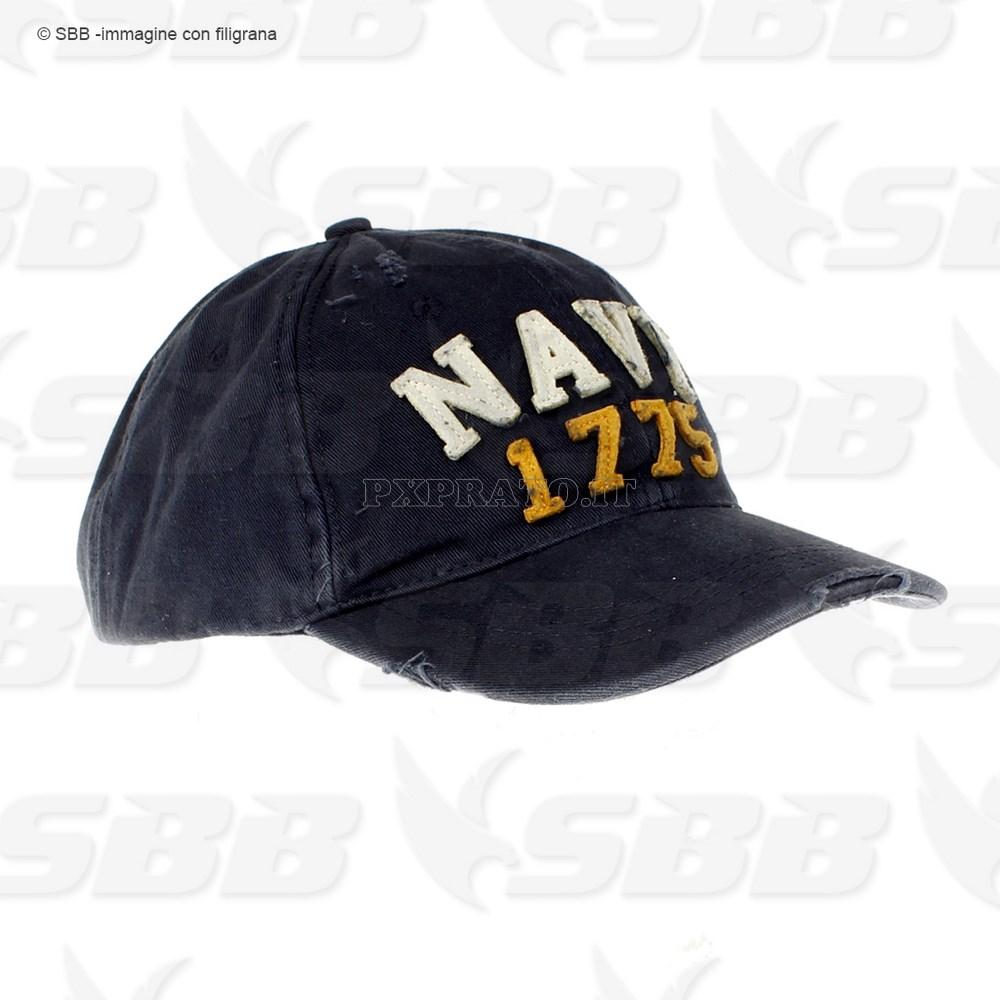 Berretto Cappello Militare Uomo Navy 1775 Americano USA - PXPrato b1e038638d1a