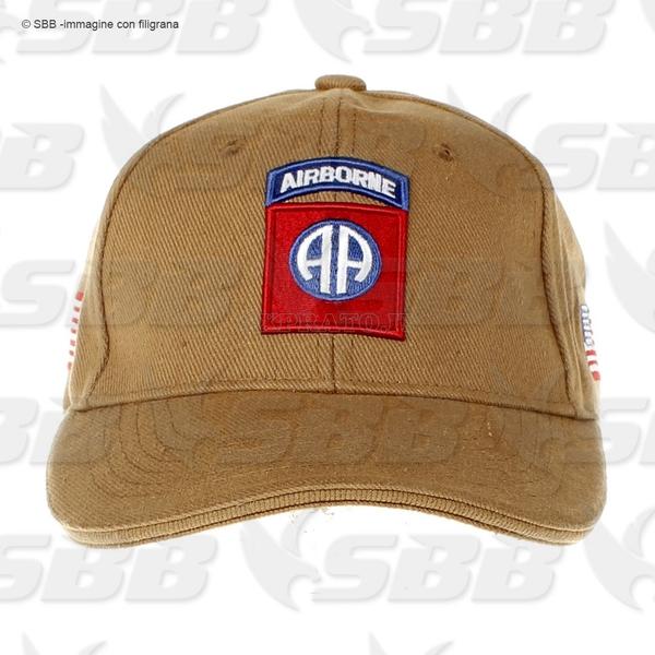 Cappello Airborne Paracadutisti Nero con Logo