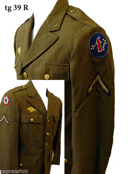 WWII Giacca Wool US Army Pacific 39 R