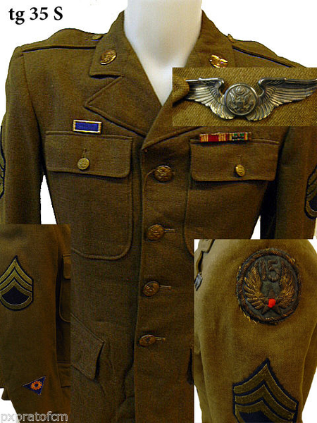 WWII Giacca Wool 15 Air Force tg 35 S