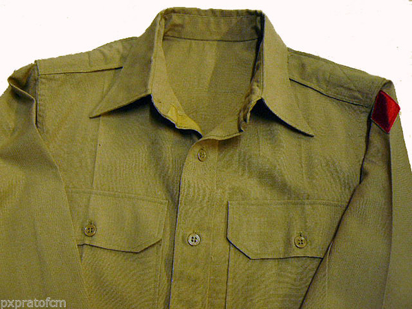 Shirt Wool Elastique Drab 5Th Infantry Division WWII Original