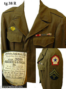WWII Ike Jacket North African Theater tg 38 R