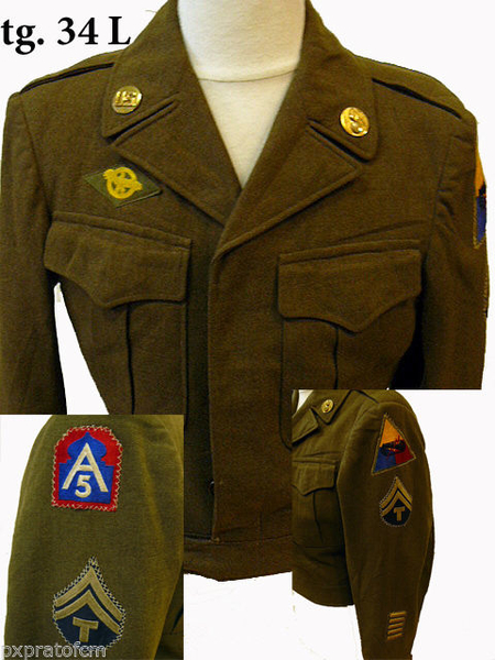 WWII Ike 5 Army Armored 34 L