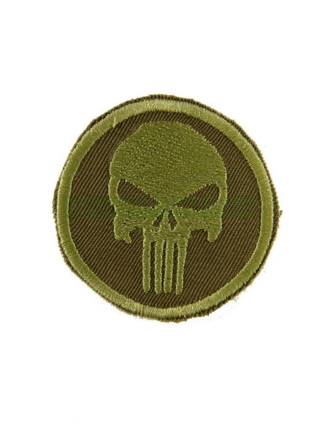 Patch SoftAir Punitore Punisher Verde Toppa Militare Soft Air Ricamata con Velcro