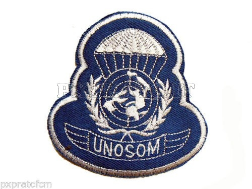 Patch Brevetto Paracadutista Missione Unosom United Nations Operation Folgore in Somalia 1993 Toppa Militare Ricamata senza velcro