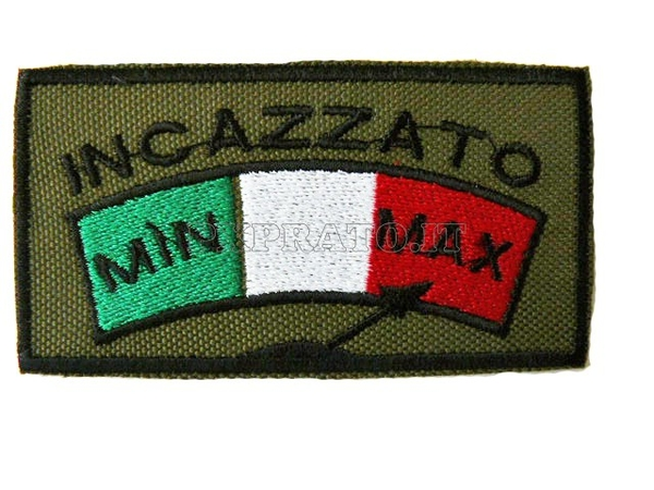 Patch SoftAir Incazzato Toppa Militare Soft Air Ricamata con Velcro