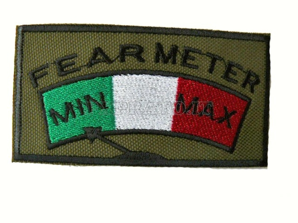 Patch SoftAir Fear Meter Toppa Militare Soft Air Ricamata con Velcro