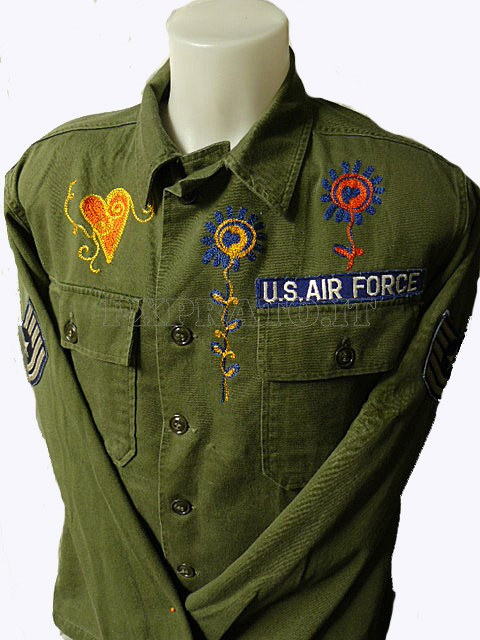 promo code d0df5 c9258 Camicia Vintage Militare Verde US Air Force OG-107 Cotton ...