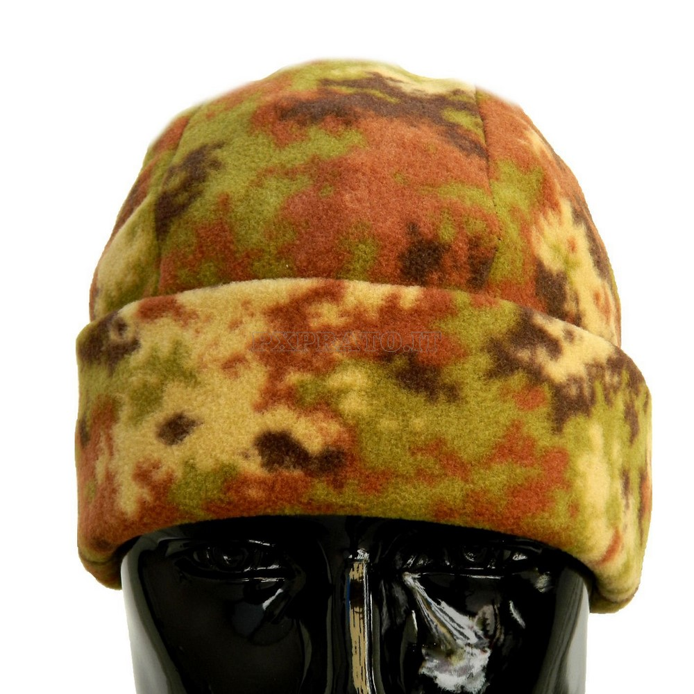 Cappello Tondo Zuccotto Militare Esercito Italiano Mimetico Vegetato  Elasticizzato in Pile Antipilling Termico Morbido Caldo Berretto 52753fb88612