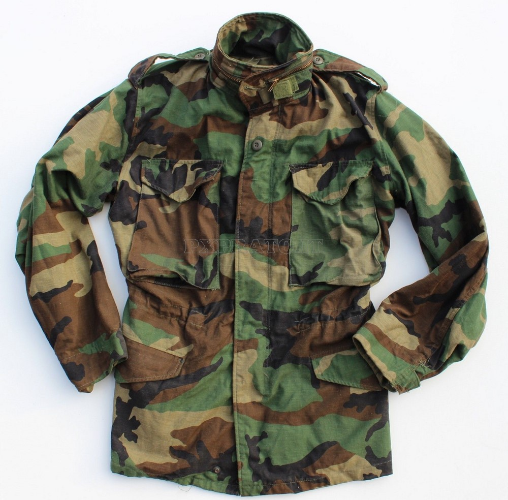 Field Woodland Vintage Army Pxprato Jacket M65 Us kPX80wnO