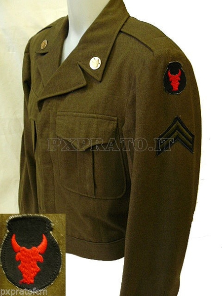 WWII Ike Jacket Red Bull 34 Division Wool Original 1945