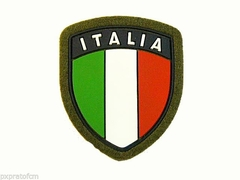 Patch Scudetto Italia Bandiera Verde Plastificata