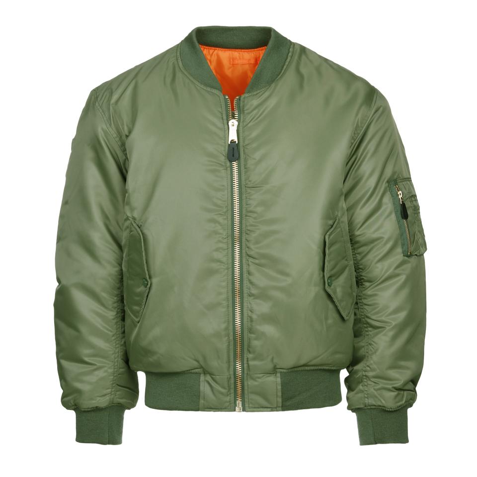 l'ultimo 722cd add6c Giubbotto Bomber MA1 Flight Jacket Verde-Arancione