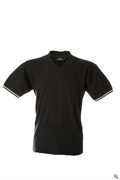 Nera shirt Tricolore T Con PXPrato V Bordi Collo Maglietta Militare A z5ta5xn
